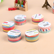 9PCS/lot Small Wave Point Stripe Washi Tapes DIY Album Scrapbook Colorful Stickers Stationery School Supply