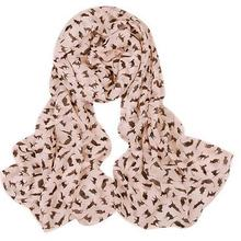2017 NEW Fashion hot selling women Spring and Autumn thin long chiffon scarf shawl small cat pattern scarves wholesale MYPF(China)