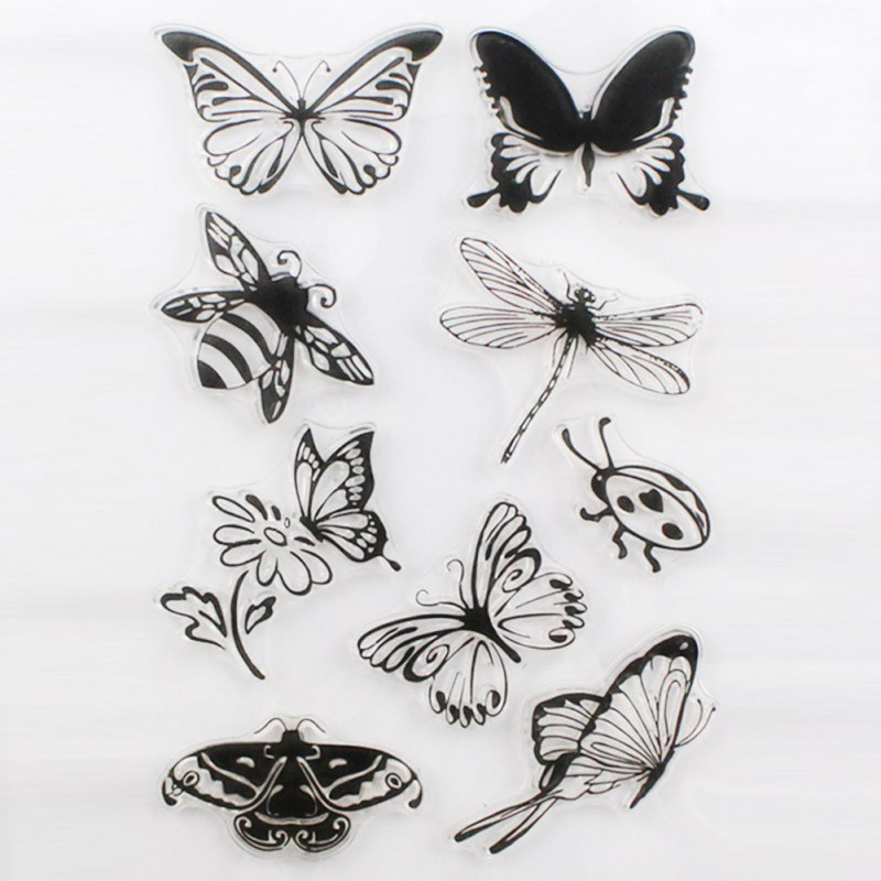 1PCS Flower Butterfly Cute Transparent Stamp DIY Scrapbooking/Card Making/Christmas Decoration Supplies Free Shipping<br><br>Aliexpress