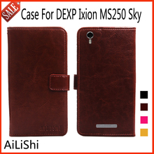 AiLiShi Flip Leather Case For DEXP Ixion MS250 Sky Case Luxury Protective Cover Phone Bag Wallet 4 Colors In Stock !