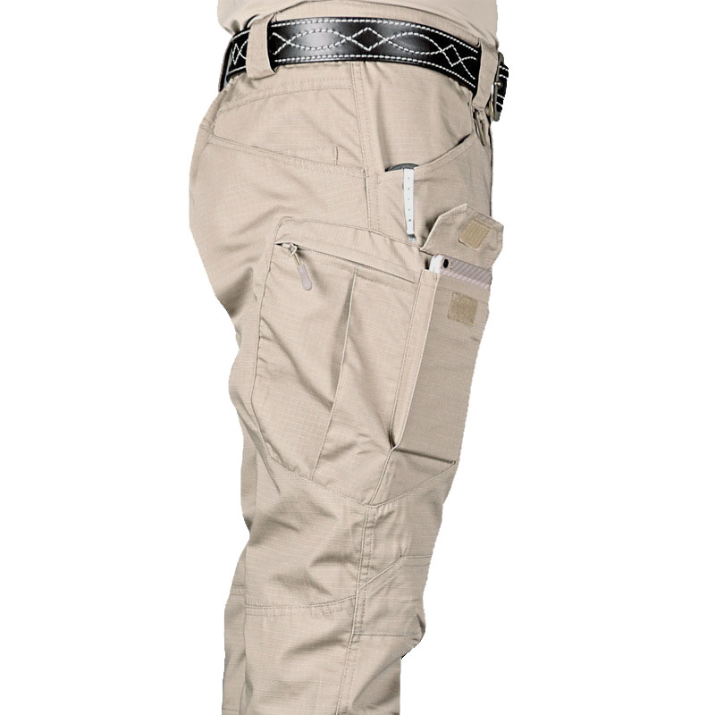 Cargo Pant Pocket Trousers Men Elasticity Military Slim Urban Mens New Fat 6XL Commuter title=
