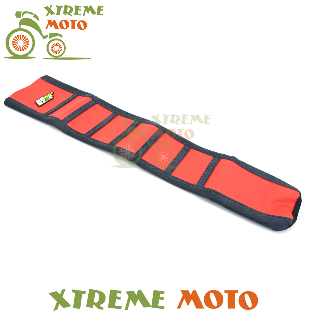 New Red Black Gripper Soft Seat Cover For Honda CRF450R CRF 450 R 2017 Motorcycle Motocross Dirt Bike Off Road Free Shipping<br>