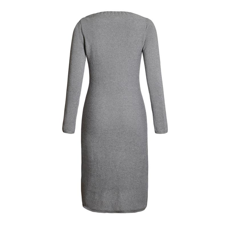 ADEWEL 2018 Spring Women Long Sleeve Bodycon Sweater Dress Casual Hand Knitted Midi Dress Elegant Inner Wear Womens Dresses (3)