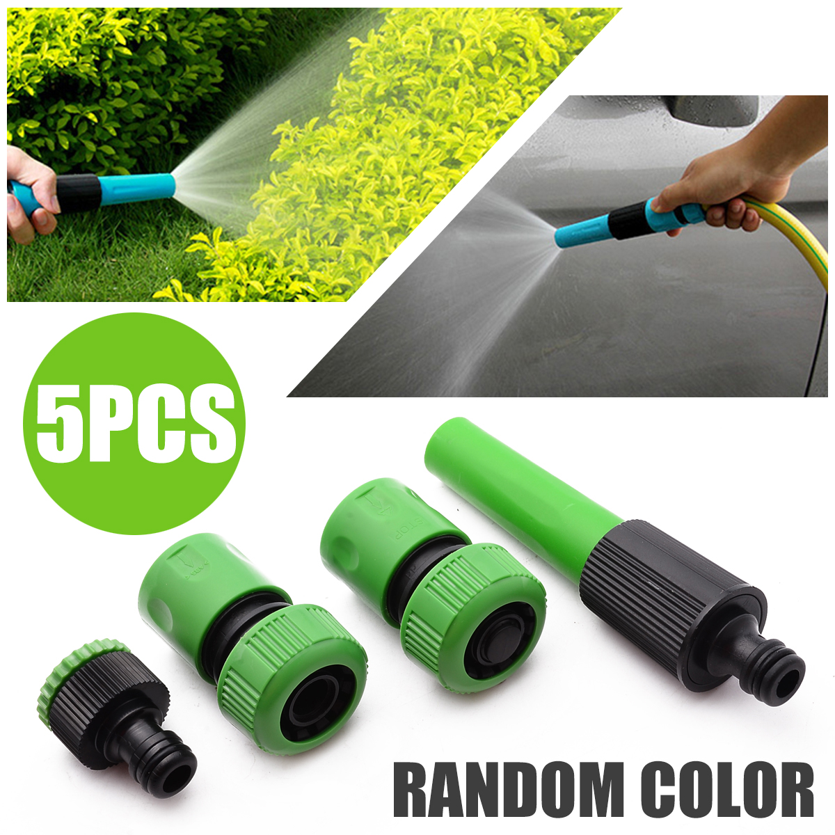 5Pcs Garden Lawn Water Tap Hose Pipe Fitting Set Garden Hose Connector Spray Tool Nozzle Watering Kits Universal Garden Supplies