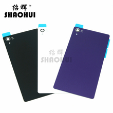 SHAOHUI Top A quanlity rear glass back cover for Sony xperia z2 L50W D6503 D6502 D6543 rear battery door housing with sticker