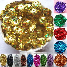 About 780Pieces 10g 6mm Circle Sequins DIY Sewing Material Wedding Apparel Stage Clothing Accessories Bump Design 13 Colors LP02(China)
