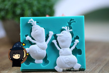 DIY Silicone Mold Frozen Olaf Cake Tools Christmas Wedding Cake Decorating Tools Fondant Chocolate Soap Molds