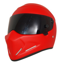 Universal Red Motorcycle Helmet DOT Certification Fiberglass Shell Street Bike Racing Motorbike Riding Helmet S M L XL XXL(China)