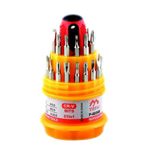31 in 1 Electronic Multi Screwdriver Mix Slotted Phillips Pozidriv Torx Hex Precise Manual Screw Driver Tool Set CRV BITS(China)