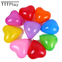 10pcs Romantic 10inch 1.5g Love Heart Latex Balloon Inflatable Wedding Decoration Valentines Day Birthday Party Balloon Supplies
