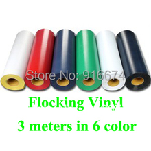 "Fast Free shipping DISCOUNT 6 pieces 20""x20"" (50cmx50cm) Flocking vinyl for heat transfer heat press cutting plotter"