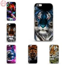 "EJGROUP Soft TPU Silicon Cool Best For Apple iPhone 5 5S SE 4.0"" inch Animal Neon Tiger Outline(China)"