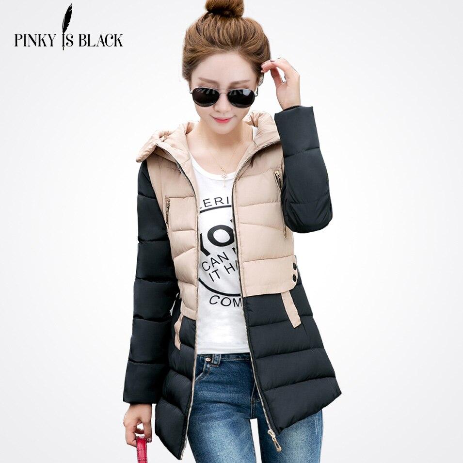 Pinky Is Black 2017 Womens cotton-padded jacket winter down cotton plus size jacket female slim ladies jackets and coatsÎäåæäà è àêñåññóàðû<br><br>
