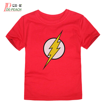 Kids flash Printing t shirt New Brand Cotton Children's Girls Boys White Candy Casual Short sleeve 3D t shirt Summer Boy Clothes(China)