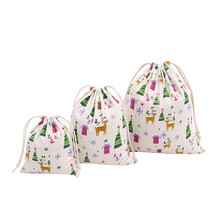 Christmas Tree Printing Bag Travel Bag Gift Bags High Quality Sacos Fashion Small candy bags Excellent Gift Shopping bolsa(China)