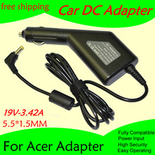 Free shipping High quality DC Power Car Adapter Charger For Laptop Acer 19V 3.42A 5.5*1.5MM 65W Input DC11-15V max 10A