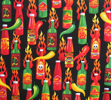 100x110cm Export Order_Cotton Plain Patchwork Cloth Hot Chili Skull Sewing Fabric Home Decoration Material Unique Novelty Fabric