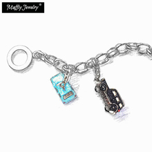 Charm Bracelet VW Beetle & London Taxi Black Cab Mini,925 Sterling Silver Lobster Fashion Jewelry 2018 Trendy Gift For Women(China)