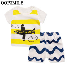 2017 Cotton Short Sleeve Baby Clothing Set Summer Cheap Newborn Toddler Baby Boys Clothes Set Roupas Bebes Adorable Infant Sets