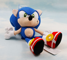 "10Pcs/Lot Sonic The Hedgehog Plush Toy Doll Key Chain 8"" Blue Free shipping"