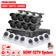 Buy Home CCTV Security 16CH DVR Camera Video system 16pcs Sony 1200TVL Outdoor Weatherproof 3.6mm camera surveillance Kit 16 channel for $398.77 in AliExpress store