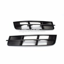 Front Bumper Grill Grille Covers Lower Outer Satin Black fit for AUDI Q7 2010-2015(China)