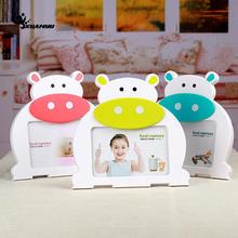 6 inch Carton Photo Frame Plastic Picture Frames Holder For Baby Living Room Home Decoration F