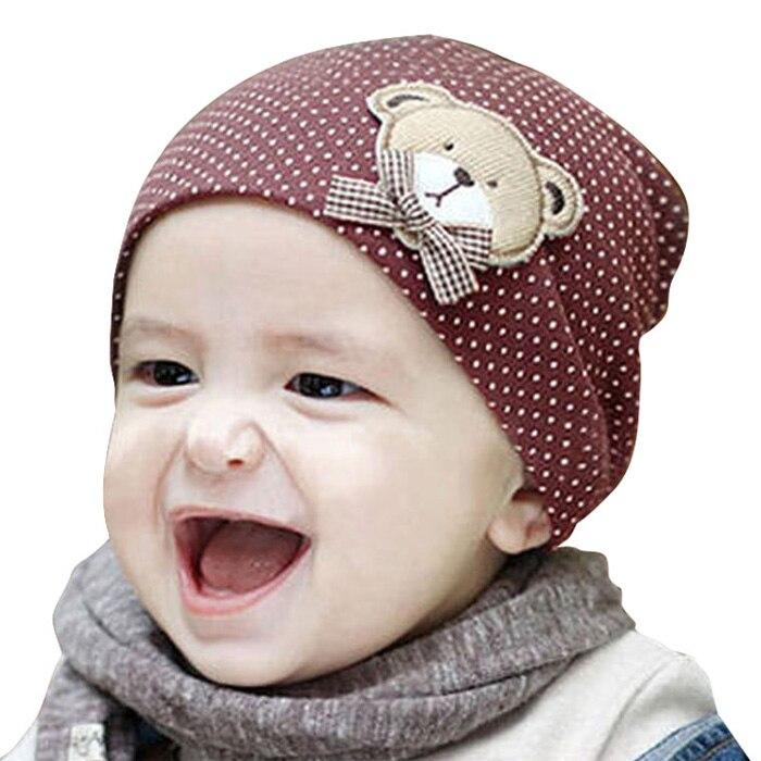 Hot New baby hat Unisex Newborn Boy Girl Toddler Infant Cotton Beanie Soft Bear Polka Dot Cute Hats for girls 10 Colors Z1Îäåæäà è àêñåññóàðû<br><br><br>Aliexpress