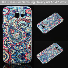 A5 2017 Golden Powder Transparent Edge Blue Jellyfish OWL IMD TPU Back Cover For Samsung Galaxy A3 A5 A7 2017 Cell Phone Cases