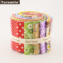New Arrivals Colorful Design 7 PCS / Lot  9CMx50CM Sewing Material Teramila Cotton Jelly Rolls Strips Plain Fabric Patchwork