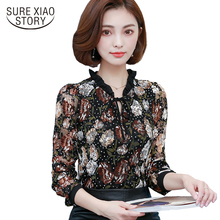 2017 New Fashion stand collar Long Sleeves lace Women blouse Shirt Slim women's clothing Plus Size women Tops blusas C994 30(China)