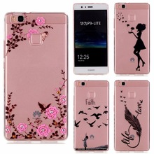 TPU Soft Case For Huawei P9 Lite Case Transparent Printing Drawing Silicone Phone Cases Cover For Huawei P9Lite Case