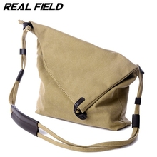 Real Field Casual Female Canvas Women Bags Large Capacity Pure Color Canvas Women Shoulder Handbags Medium Ladies Crossbody Bags