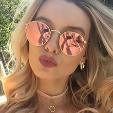 Round Sunglasses Women Fashion Brand Designer Classic Rose Gold Steampunk Sun Glasses Men UV400 Rayed Mirror Female Small