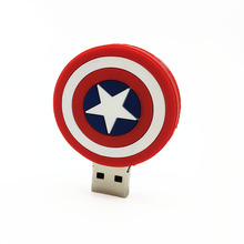 Disk USB Stick Memory Pendrive Stick Storage Device Captain America LOGO USB Flash Drive 128GB 64GB 32GB 16GB 8GB 4GB Pen Drive(China)