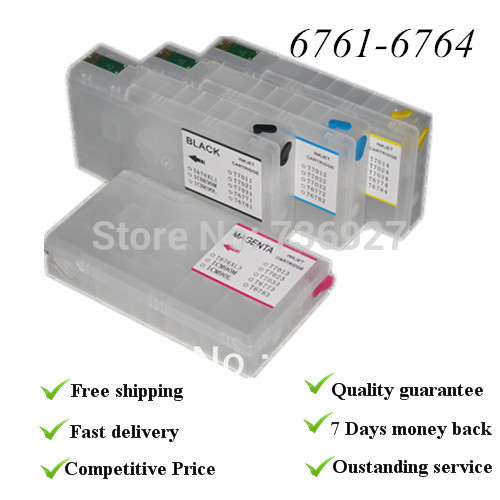 4C Empty  refillable cartridge, with auto-reset chip,   suit for wp4010 wp4020 ,suit for epson cartridgeT6761,T6762,T6763, T6764<br><br>Aliexpress