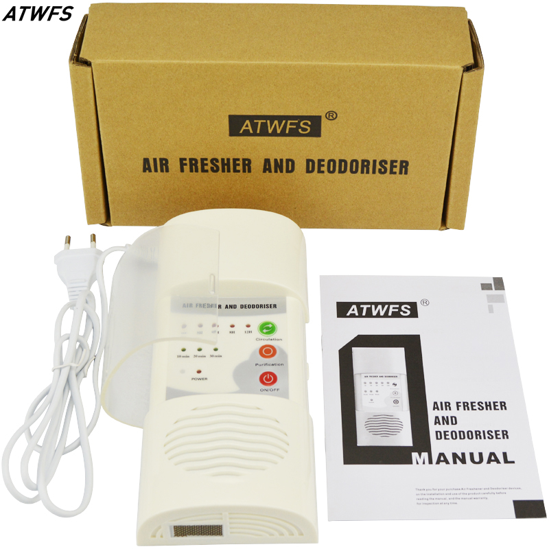 ATWFS Portable Ozone Generator 110-220v Air Purifier for home Ozonizer Air Cleaner Room Sterilizer Cleaning Deodorizer EU Plug <br><br>Aliexpress