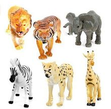 Small Plastic Animals Simulation Zoo 6pcs/set Containing Solid various kinds  Animales tiger Toys For Kid Children