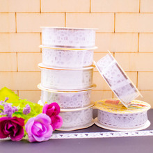 White Color Lace Tape Decorative Adhesive Masking Tape  DIY Creative Scrapbooking Scotch Tape 1PCS/Lot
