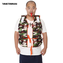 YINGTOUMAN Outdoor Camouflage Lifejacket With Whistles First Aid Kits Life Vest Water Sports Foam Life Jacket Buoyancy Vest(China)