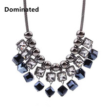 Dominated women personality crystal necklace collarbone short chain accessories pendant necklace(China)