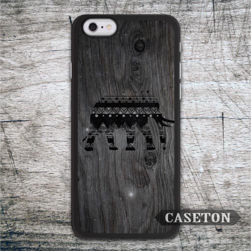 Tribal Elephant On Wood font b Case b font For font b iPhone b font 7