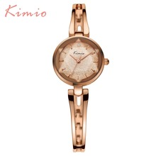 2017 New HOT Kimio Women's watches Quartz bracelet wristwatches women ladies dress watch luxury Relogio Feminino with Gift Box(China)