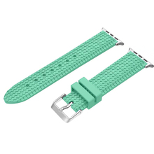For Apple Watch Silicone Band Sports Strap Replacement 38/42mm Series 1/2 White Green Rose Yellow Purple Pure Color I223.(China)