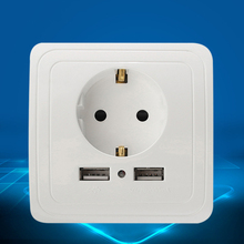 Best Dual 2 USB Port 5V 2A Wall Outlet Panel Plug Socket Electrical Power Outlet Charger Adapter for Cell Phone(China)