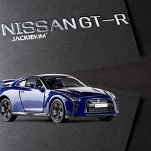 Free Shipping High simulation supercar RMZ city 1:36 scale NISSAN GT-R alloy pull back cars model toys For Kids Gifts(China)