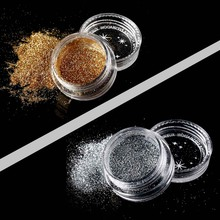 Natural Silver/Gold Glitter Eye Shadow Makeup Palette Fine Fine Shine Eyeshadow Powder Pigment Diamond Rainbow Make Up Cosmetic(China)