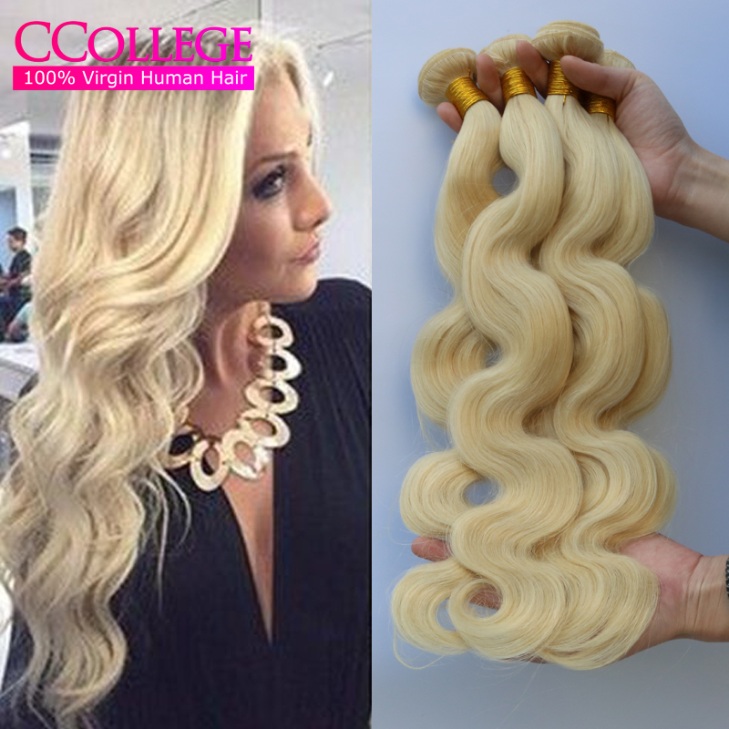 New Arrival Color 613 Blonde India Virgin Hair Body Wave 4Pcs Lot Grade 7A Unprocessed India Human Hair Extensions Weave 100G<br><br>Aliexpress