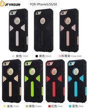 5S Case NEW Hybrid TPU+PC Hard Plastic Armor Case For iPhone 5 5S SE HOT Slim Dual Color Rubber Dustproof plug Phone Back Covers