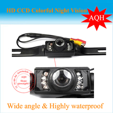 Free Shipping Car Backup Camera Waterproof Reversing Backup Camera IR LED Night Car Rear View Camera(China)